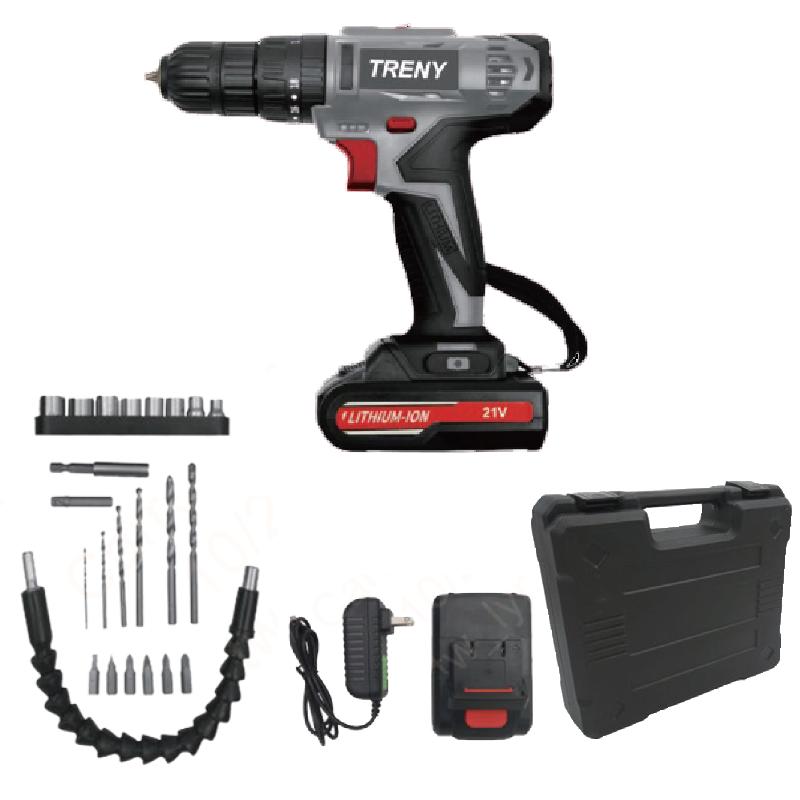 TRENY-23件21V鋰電震動電鑽