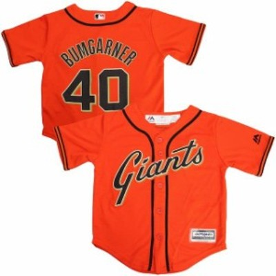Majestic マジェスティック スポーツ用品  Majestic Madison Bumgarner San Francisco Giants Preschool Orange Official Cool Base Play