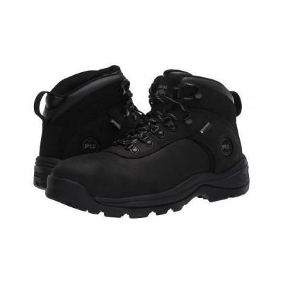 """Timberland PRO ティンバーランド メンズ 男性用 シューズ 靴 ブーツ ワークブーツ Flume 6"""" Steel Safety Toe Waterproof - Black"""