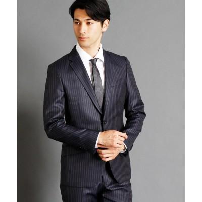 【ムッシュニコル】 ストライプ柄スーツ メンズ 67ネイビー 44(S) MONSIEUR NICOLE
