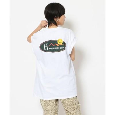 【ビーバー】MANASTASH/マナスタッシュ Ws OVAL SMILE TEE FOR BEAVER 別注オーバルスマイルT