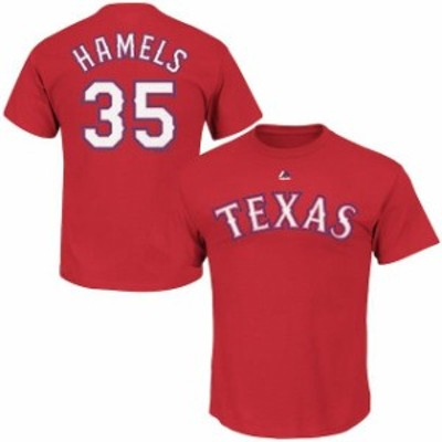 Majestic マジェスティック スポーツ用品  Majestic Cole Hamels Texas Rangers Youth Red Player Name & Number T-Shirt