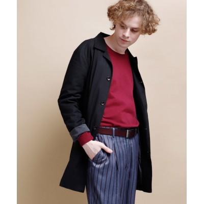 EMMA CLOTHES / LINEN×COTTONストレッチバルカラーコート MEN ジャケット/アウター > ステンカラーコート
