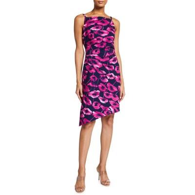 ミリー レディース ワンピース トップス Mishka Floral-Print Slit Asymmetrical Cady Dress