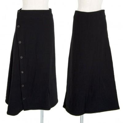 ワイズY's ウールナイロンラップスカート 黒3 【レディース】