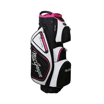 MACGREGOR Golf VIP Deluxe 14ウェイ レディース カートバッグ 9.5インチ トップ ホワイト/ブラック/ピンク