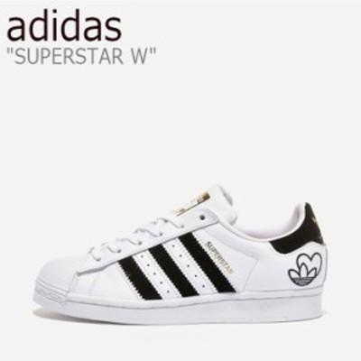 アディダス スニーカー adidas メンズ レディース SUPERSTAR W スーパースター W WHITE BLACK ホワイト ブラック FY4755 シューズ