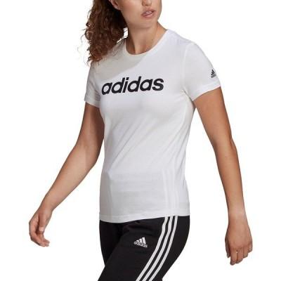 アディダス Tシャツ トップス レディース Women's Essentials Cotton Linear Logo T-Shirt White