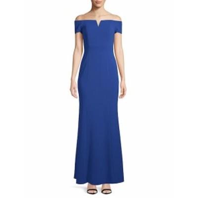 カルバンクライン レディース ワンピース Off-The-Shoulder Evening Gown