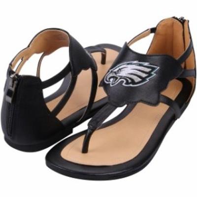 Cuce クーチェ シューズ サンダル Cuce Philadelphia Eagles Womens Black Gladiator Sandals