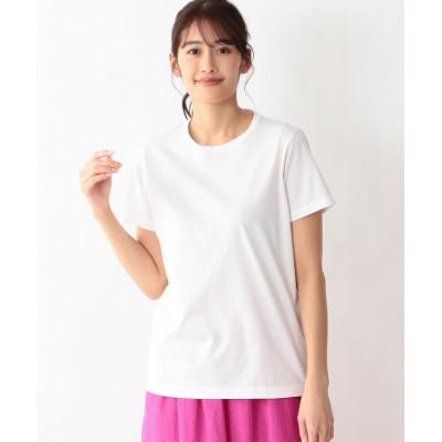 【エス エッセンシャルズ】 ハイトシャインクルーネックTシャツ レディース ホワイト 38(M) S.ESSENTIALS