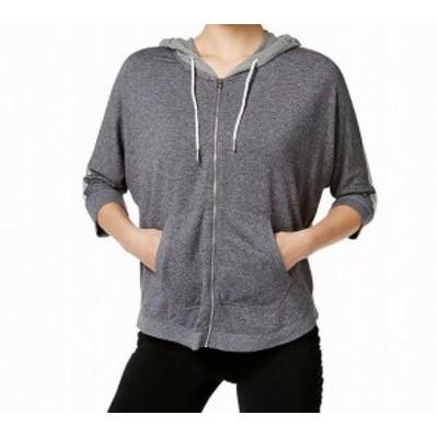 Calvin Klein カルバンクライン ファッション トップス Calvin Klein NEW Gray Womens Size Large L Full Zip Hooded Sweater
