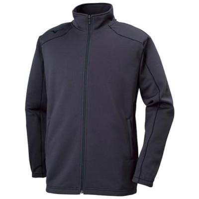 MIZUNO ミズノ ウォームアップジャケット トレーニングウエア トップス ユニセックス 2019年春夏 吸汗速乾 チャコール×ブラック 32MC9125