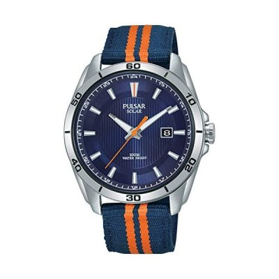 当店1年保証 パルサーPulsar Active Mens Analog Solar Watch with Nylon Bracelet PX3175X1