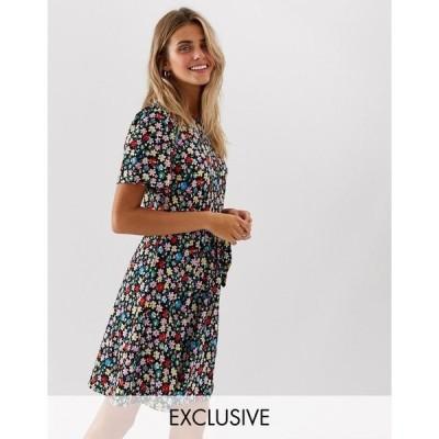 ジェイディーワイ レディース ワンピース トップス JDY floral tie waist mini dress Multi