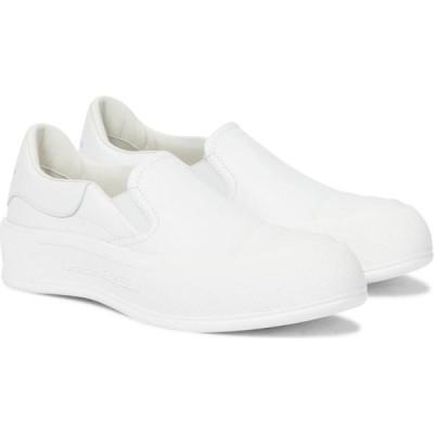 アレキサンダー マックイーン Alexander McQueen レディース スニーカー シューズ・靴 deck plimsoll leather sneakers White/Whi/Whi