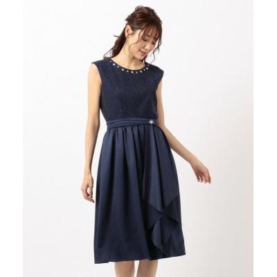 【フェルゥ】 オーバースカートセット ドレス レディース ネイビー系 2 Feroux