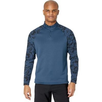 アディダス adidas Golf メンズ スウェット・トレーナー トップス Camo Hybrid Recycled Polyester Sweatshirt Navy