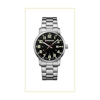 Wenger Men's Sport Swiss-Quartz Watch with Stainless-Steel Strap, Silver, 22 (Model: 01.1641.111) 並行輸入品