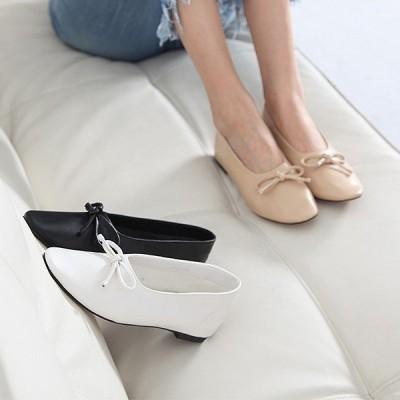 走れるパンプス フラットシューズ レディース ペタンコ リボン シンプル ファッション 靴 婦人靴