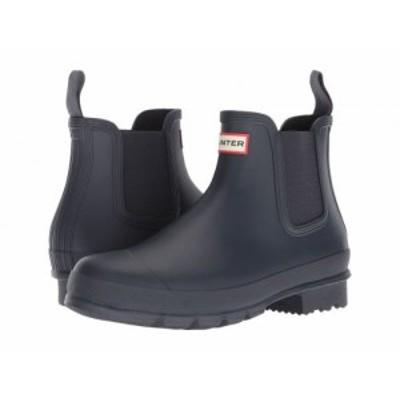 HUNTER ハンター メンズ 男性用 シューズ 靴 ブーツ レインブーツ Original Chelsea Boot Navy【送料無料】