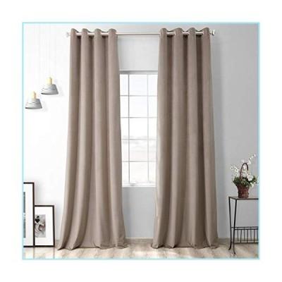 新品HPD Half Price Drapes VPYC-161209-108-GR Heritage Plush Velvet Grommet Curtain (1 Panel), 50 X 108, Gallery Taupe