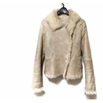 ボールジー BALLSEY コート サイズ38 M レディース アイボリー ムートン/冬物【中古】20200509