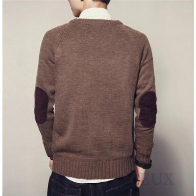 セーター メンズ ニット プルオーバー ニットセーター トップス カジュアル 秋 冬 ゆったり 長袖 スリム ペアルック