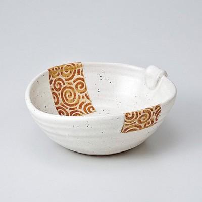 和食器 白釉うず唐草耳付 小鉢 ボウル カフェ 食器 陶器 おうち おしゃれ プチ ミニ 日本製