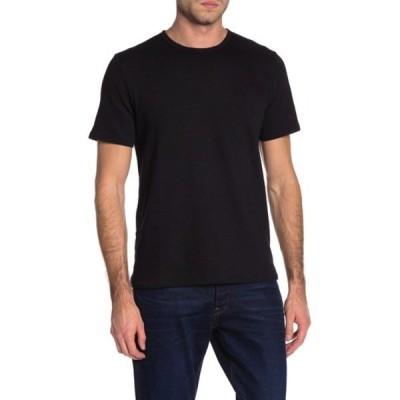 ラグアンドボーン メンズ Tシャツ トップス Core Crew Neck Slub T-Shirt BLK