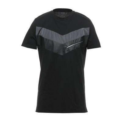 YES LONDON T シャツ ブラック L コットン 100% / レーヨン / ポリウレタン / ポリエステル / ポリウレタン T シャツ