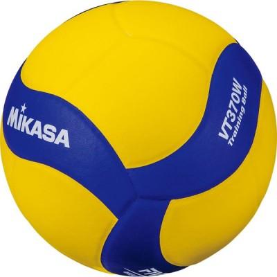 MIKASA(ミカサ) バレー5号 トレーニング370g 黄/青 バレー ボール VT370W
