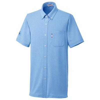 ルコックスポルティフ ユニセックスニットシャツ UZL3064 セーヌブルー SS 介護ユニフォーム 1枚(直送品)