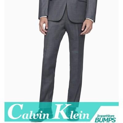 カルバンクライン  スラックス/ビジネスパンツ  メンズ  スリム  ヘザー/杢  ウール  ボトムス  ズボン  新作  CK  CALVIN  KLEIN