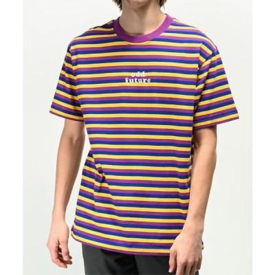 オッドフューチャー Odd Future Tシャツ 半袖 ロゴ ストライプ Purple, Blue & Yellow パープル ブルー イエロー メンズ 取り寄せ