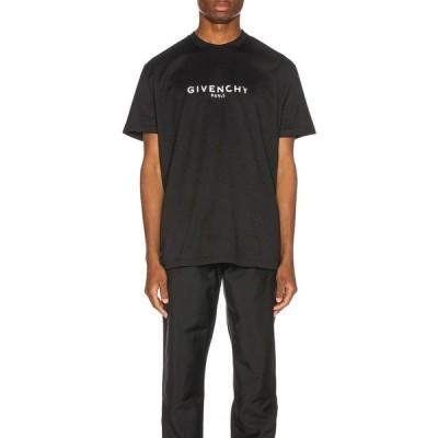 ジバンシー Givenchy メンズ Tシャツ ロゴTシャツ トップス Distressed Logo Tee Black