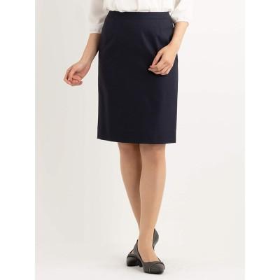紺織柄無地 ストレッチタイトスカート セットアップ着用可