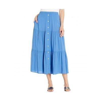 Karen Kane カレンケーン レディース 女性用 ファッション スカート Tiered Midi Skirt - Tile Blue