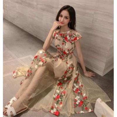 一部 韓国ファッション ビーチワンピース お出かけ オーバーニースカート