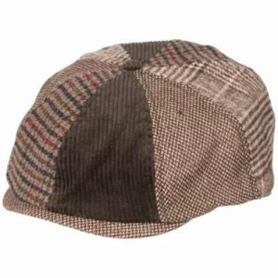 ライフイズグッド その他帽子 Mixed Patterns Brown Bakers Cap Rich Brown