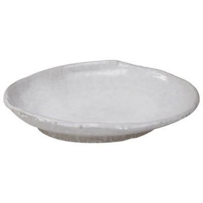 雪粉引 小判鉢