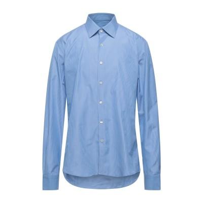 TOMBOLINI シャツ アジュールブルー 41 コットン 100% シャツ