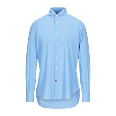 MAZZARELLI シャツ アジュールブルー 41 コットン 100% シャツ