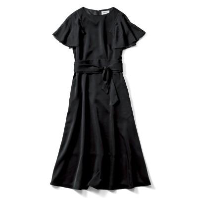 ノーブルな印象のブラックドレス MEDE19F フェリシモ FELISSIMO