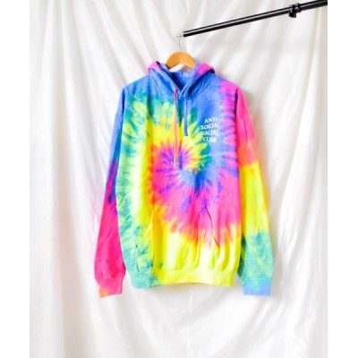 NO WAY / 【8】【Anti Social Social Club】Laguna Rainbow Tie Dye Hoodie MEN トップス > パーカー