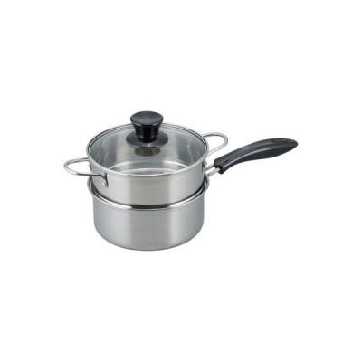 鍋屋大作 IH対応片手二段蒸し器18cm(NR-7732)