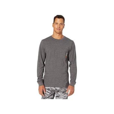 ティンバーランド Base Plate Blended Long Sleeve T-Shirt メンズ シャツ トップス Dark Charcoal Heather