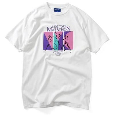 Lafayette ラファイエット Tシャツ ROAD RUNNER CLUB TEE 白 M-XL 半袖 LS200134 ストリート