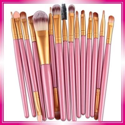 メイクブラシセット 安い Kohore メイクブラシセット 人気 15本セット フェイスブラシ パウダー 柔らかい 化粧筆