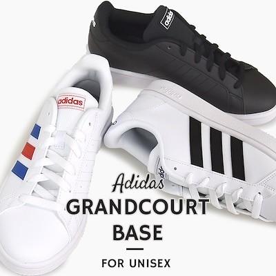 クーポンでさらにお得アディダス adidas スニーカー カジュアル シューズ 靴 ストリート GRANDCOURT BASE EE7900 EE7901 EE7904 黒 白